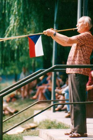 Jaroslav Skabrada mit einer Aida - Fanfare